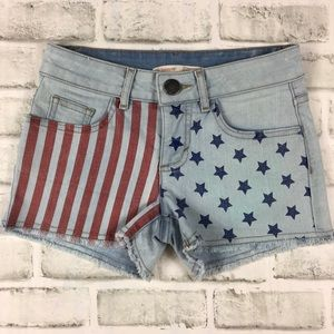 Star Spangled Banner Distressed Shorts